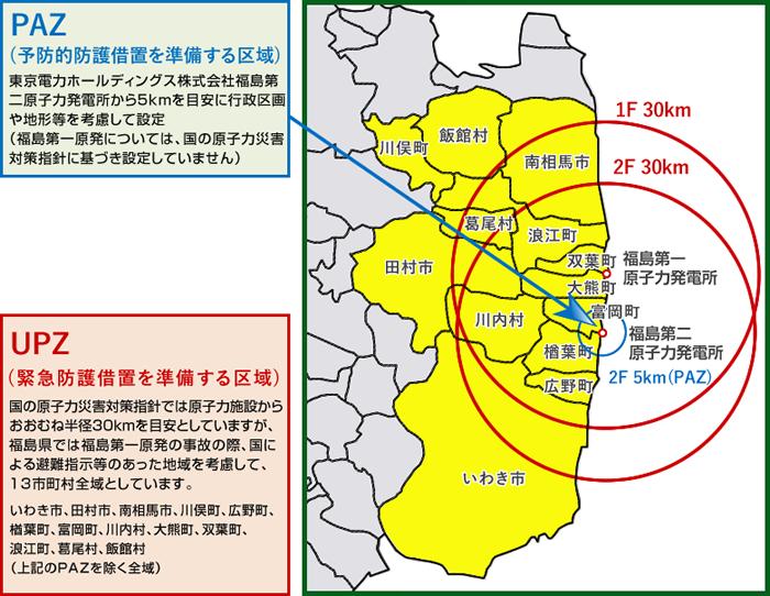 広域避難計画の対象となる区域